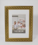 Luxe houten wissellijsten M2713 Goud gevlochten
